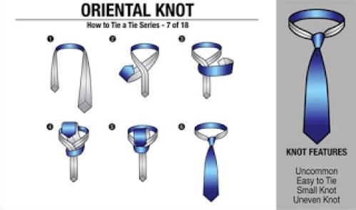 Dasi Simpul Oriental Knot
