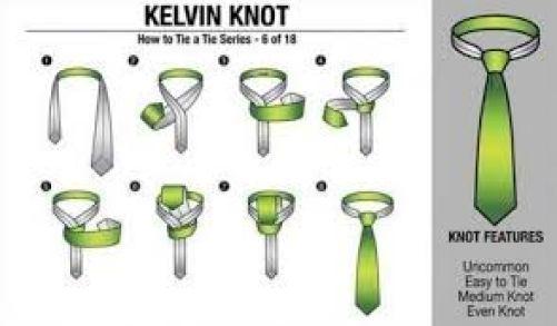cara memakai dasi kelvin knot