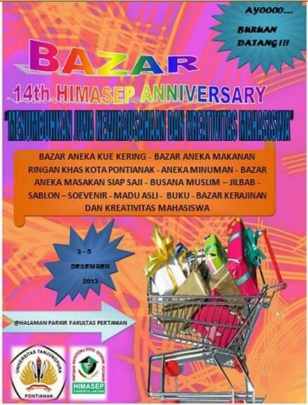 contoh pamflet bazar