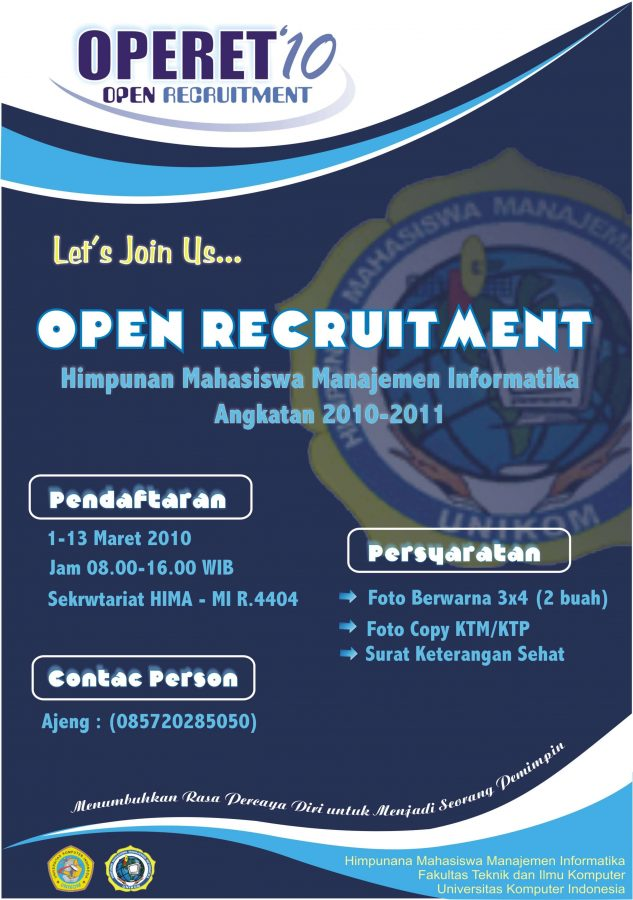 contoh pamflet recruitment