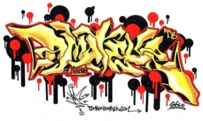 gambar grafiti nama sendiri