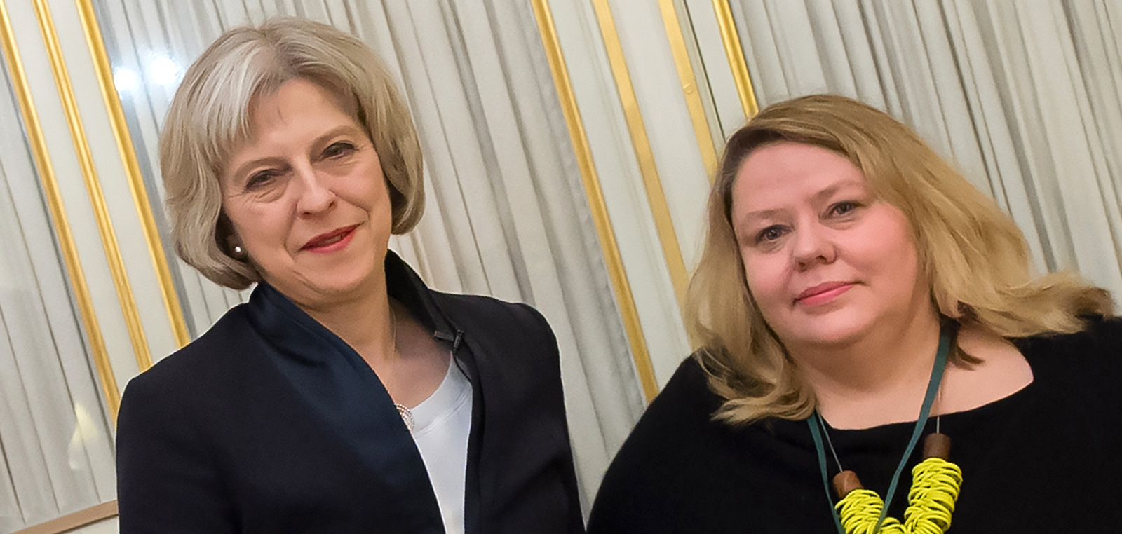 Trafficking survivor Diane Martin with Prime Minister Theresa May
