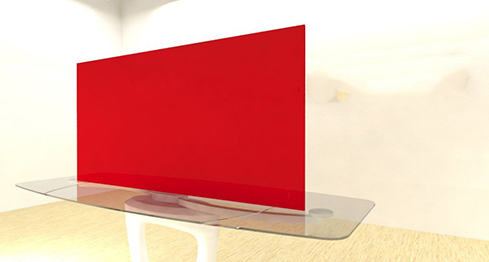Acrylic Sheets – Cut To Size –  Opaque Crimson Red – S2039