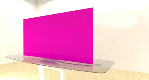 Acrylic Sheets – Cut To Size –  Opaque Fuschia Pink – S118