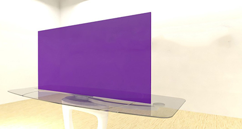 Acrylic Sheets – Cut To Size –  Opaque Iris Purple -S775