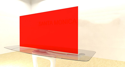 Acrylic Sheets – Cut To Size –  Opaque Red `- S2362
