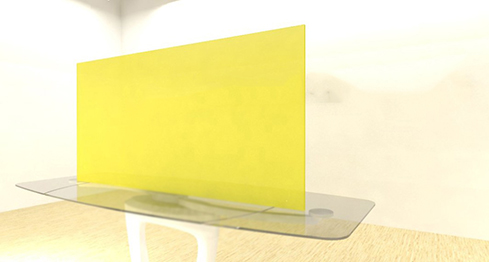 Acrylic Sheets – Cut To Size –  Fluorescent Yellow – S9097