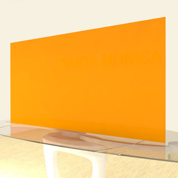 Acrylic Sheets – Cut To Size –  Opaque Tangerine – S2564