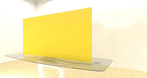 Acrylic Sheets – Cut To Size –  Transparent Yellow – S2208