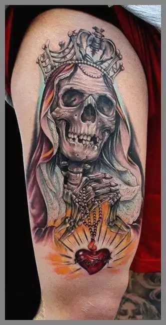 Tatuajes De La Santa Muerte Las Mejores Ideas Para Agradecerle