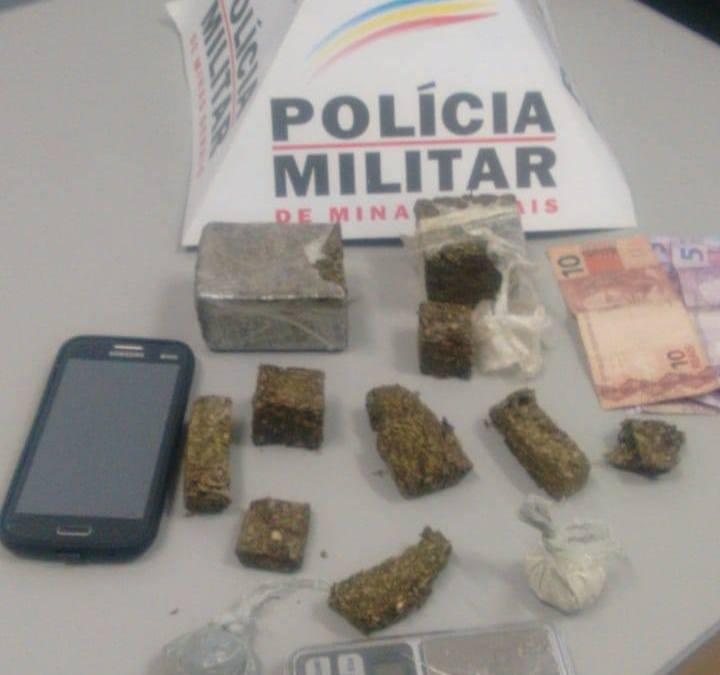 PM prende homem por tráfico de drogas no bairro Garcias