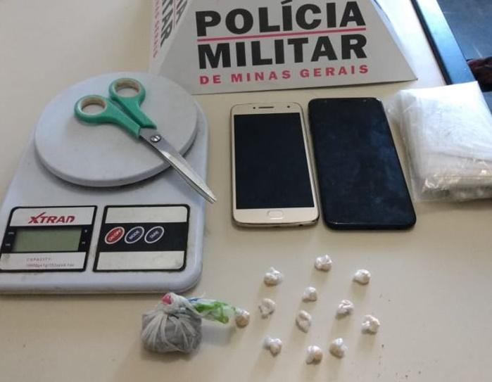 Dois homens e uma jovem  são detidos por tráfico em Itaúna