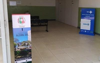 Unidades de saúde de Itaúna terão totens de álcool em gel