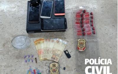 Operação Fim de Tarde: casal é preso por tráfico de drogas
