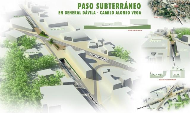 El Ayuntamiento construirá el paso inferior de General Dávila, que costará 7,2 millones