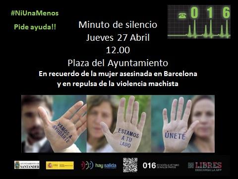 Minuto de silencio por la mujer asesinada en Barcelona, víctima de la violencia machista