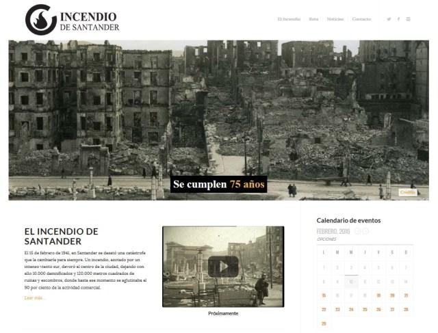 El incendio de Santander estrena página web www.incendiosantander.com