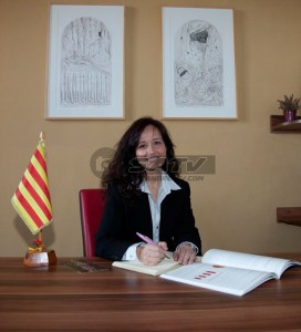 Ana Úbeda, Alcaldessa de Colbató. Foto: Aj Collbató
