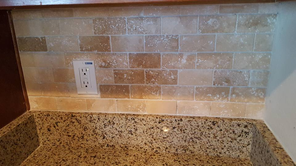 Travertine Subway Tile Backsplash  Florence AZ  San Tan