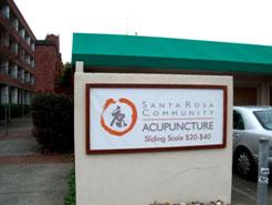 Santa Rosa Community Acupuncture Sign