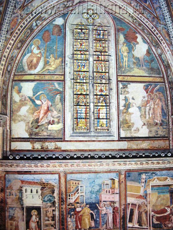 Фрески Джотто в базилике Сан Франческо в Ассизи (2/6)