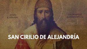 San Cirilo de Alejandría obispo foto imagen