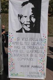 Mural Nelson Mandela - Escola Montbaig