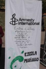 Mural Amnistia Internacional - Escola Marianao
