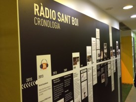 Una cronologia molt visual recorre la història de Ràdio Sant Boi al llarg dels anys // David Guerrero