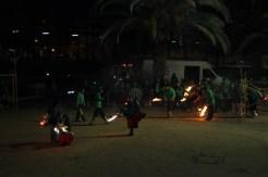 Els més petits de la colla de diables van treure a ballar les seves bèsties de foc // Maria Roda