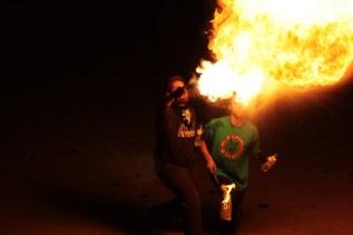 Alguns diables van treure per la boca grans bafarades de foc // Maria Roda