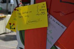 Algunas imágenes del taller de los deseos, en la plaza del ayuntamiento // Elisenda Colell