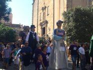 Els Gegants han amenitzat la fi de l'acte i han realitzat una cercavila pels carrers del centre històric // Marc Pidelaserra