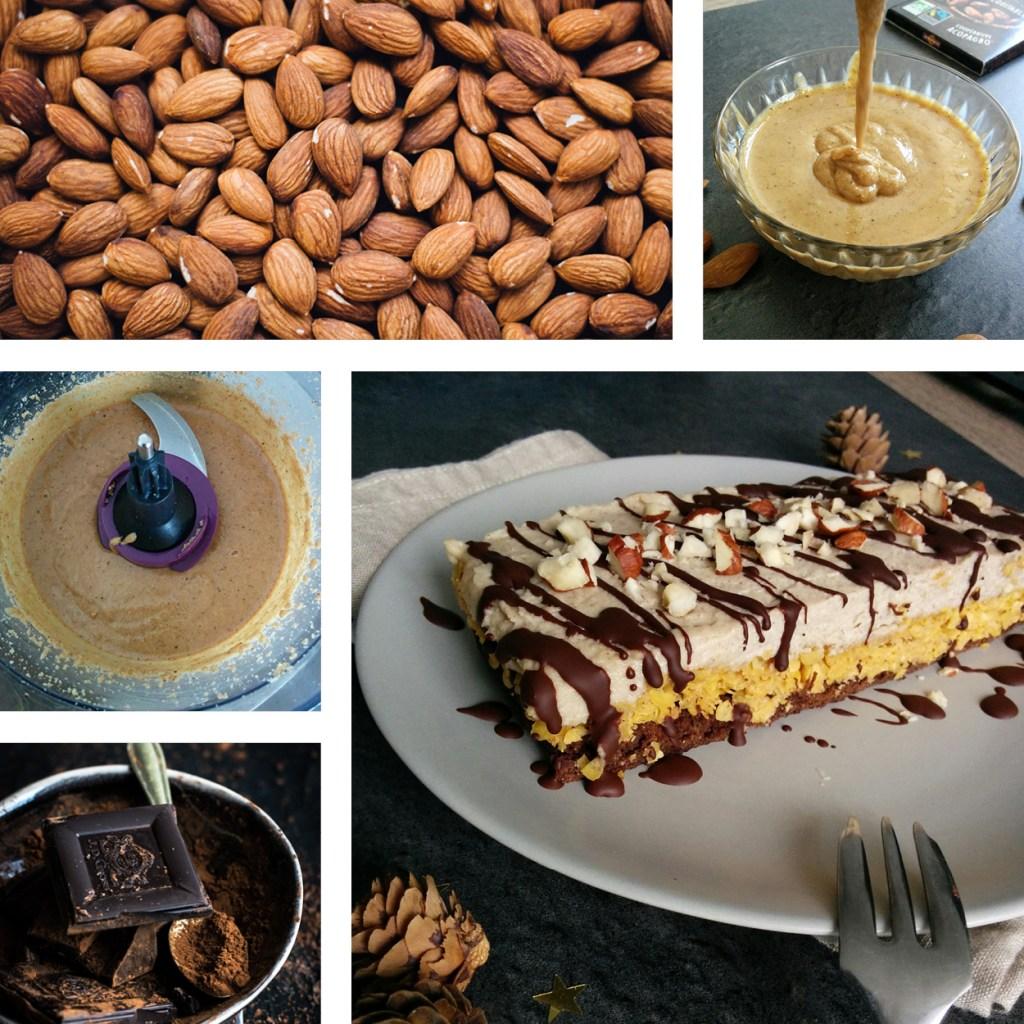 Buche végétarienne aux 3 noix et chocolat _ santé et gourmandise