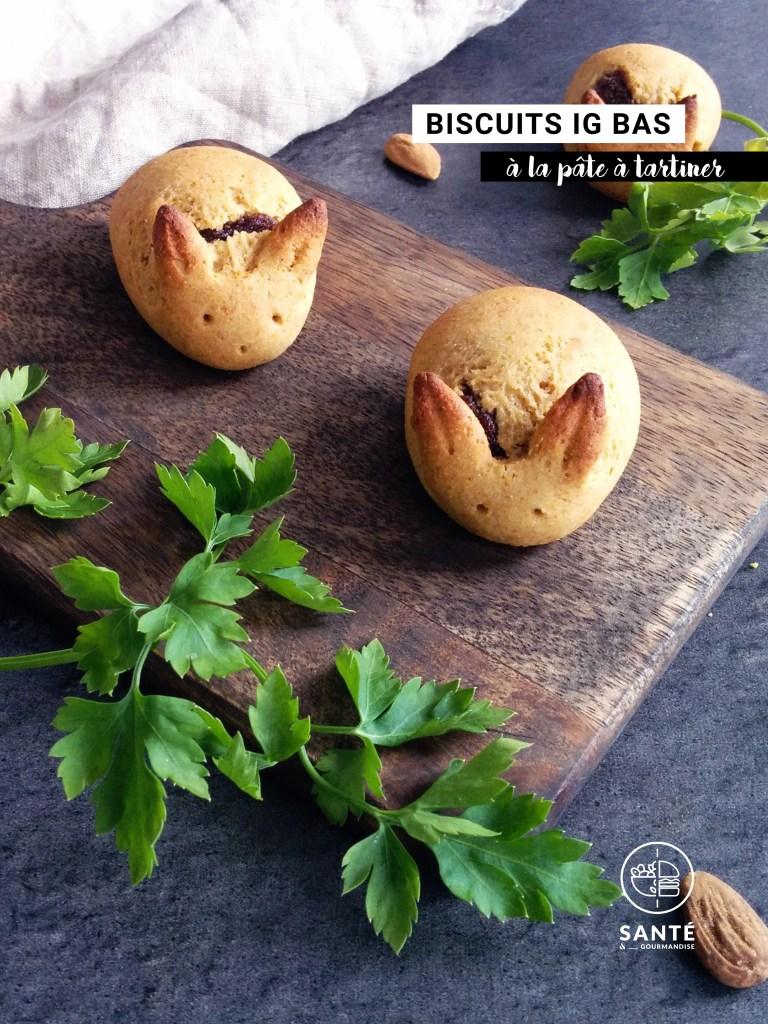Biscuits fourrés à la pâte à tartiner IG bas