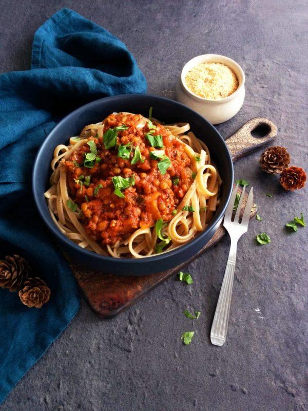 56 recettes IG bas et végétariennes _ Lentilles façon bolognaise IG bas _ santé et gourmandise