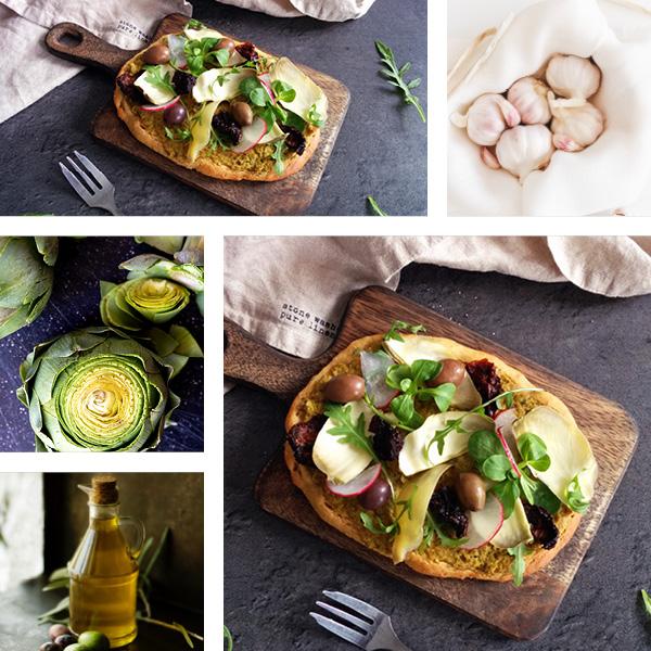 Pizza aux légumes printaniers IG bas _ santé et gourmandise
