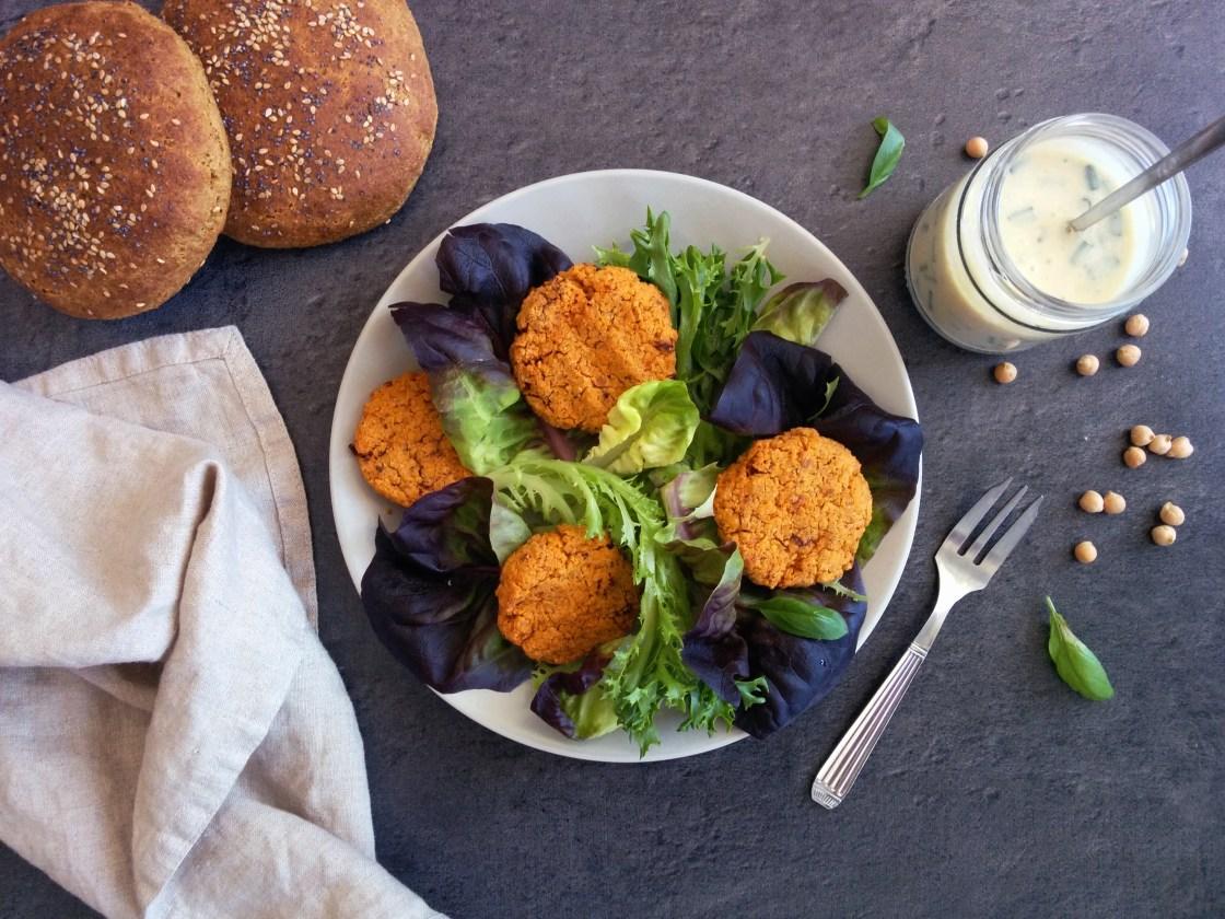 Galettes de pois chiches aux tomates _ santé et gourmandise