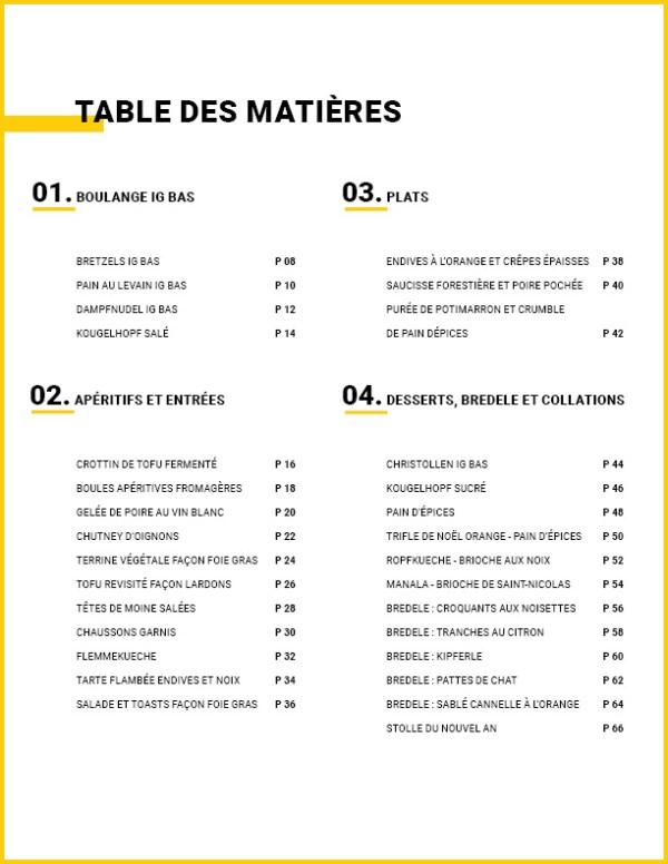 Table des matières _ Ebook 30 recettes de Noël à IG bas