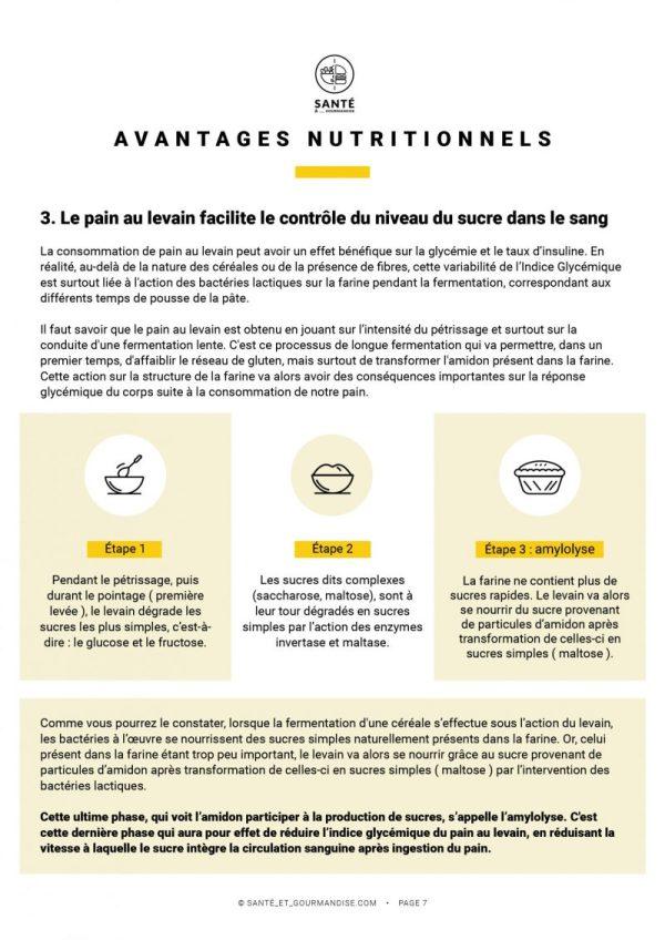 Levain Facile et IG bas _ fiche nutritionnelle _ santé et gourmandise