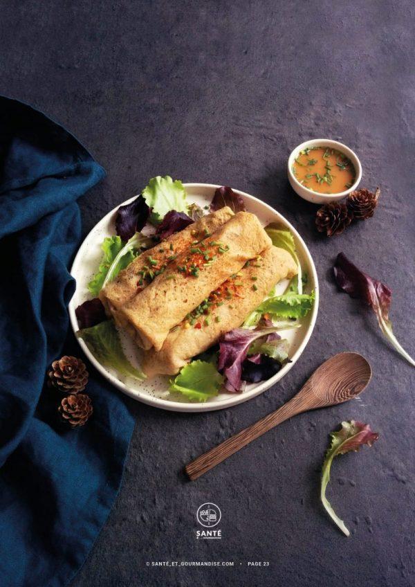 Cuisiner au levain à IG bas _ banh cuon _ santé et gourmandise