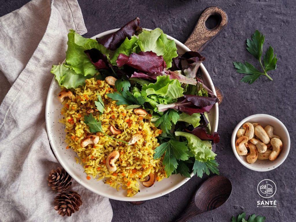 Riz au citron IG bas _ saveurs indiennes _ santé et gourmandise