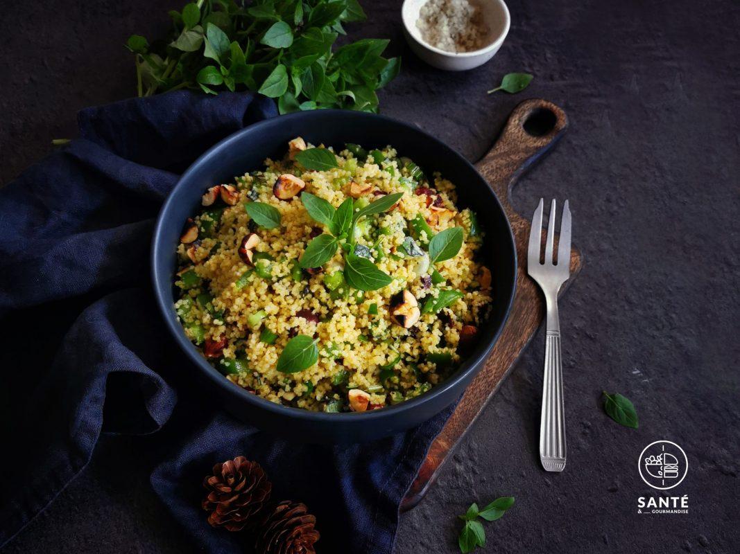 semoule en salade IG bas _ santé et gourmandise
