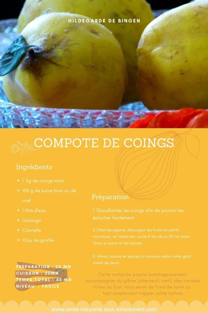 Le coing : fruit aux vertus méconnues (dont on a bien besoin) : recette de la compote de coings