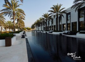 103 metre long pool, flanked by the spa