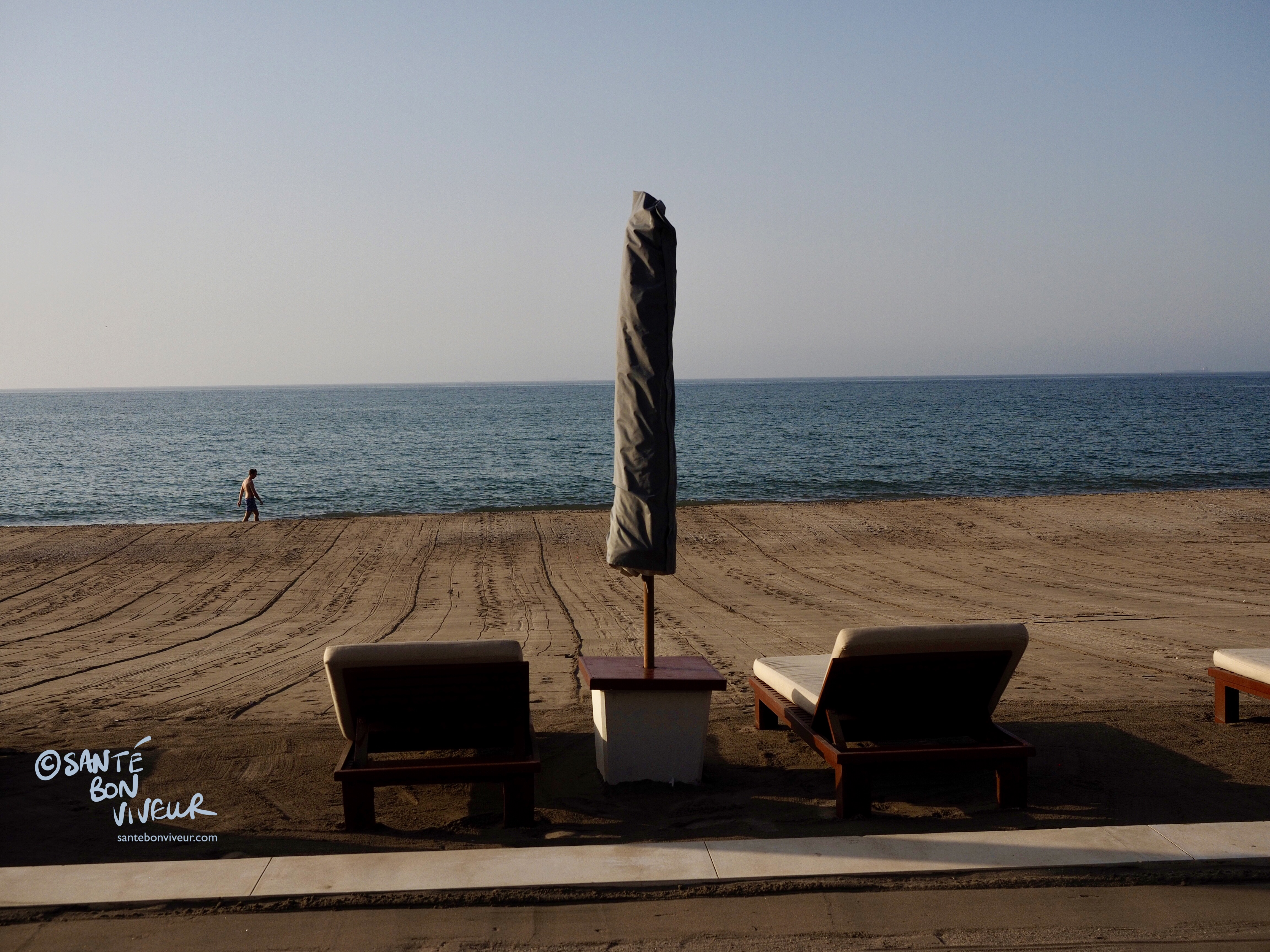 Private (raked!) beach at the Chedi hotel, Muscat