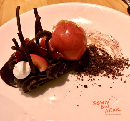 Snap, Crackle & Choc - fabulous 70% cacao mousse-based pudding at Terre à Terre, Brighton, 2017