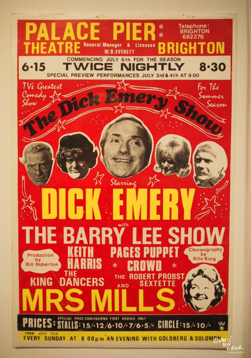 Brighton Place Pier Theatre Poster for Dick Emery, Brighton Museum, 2017