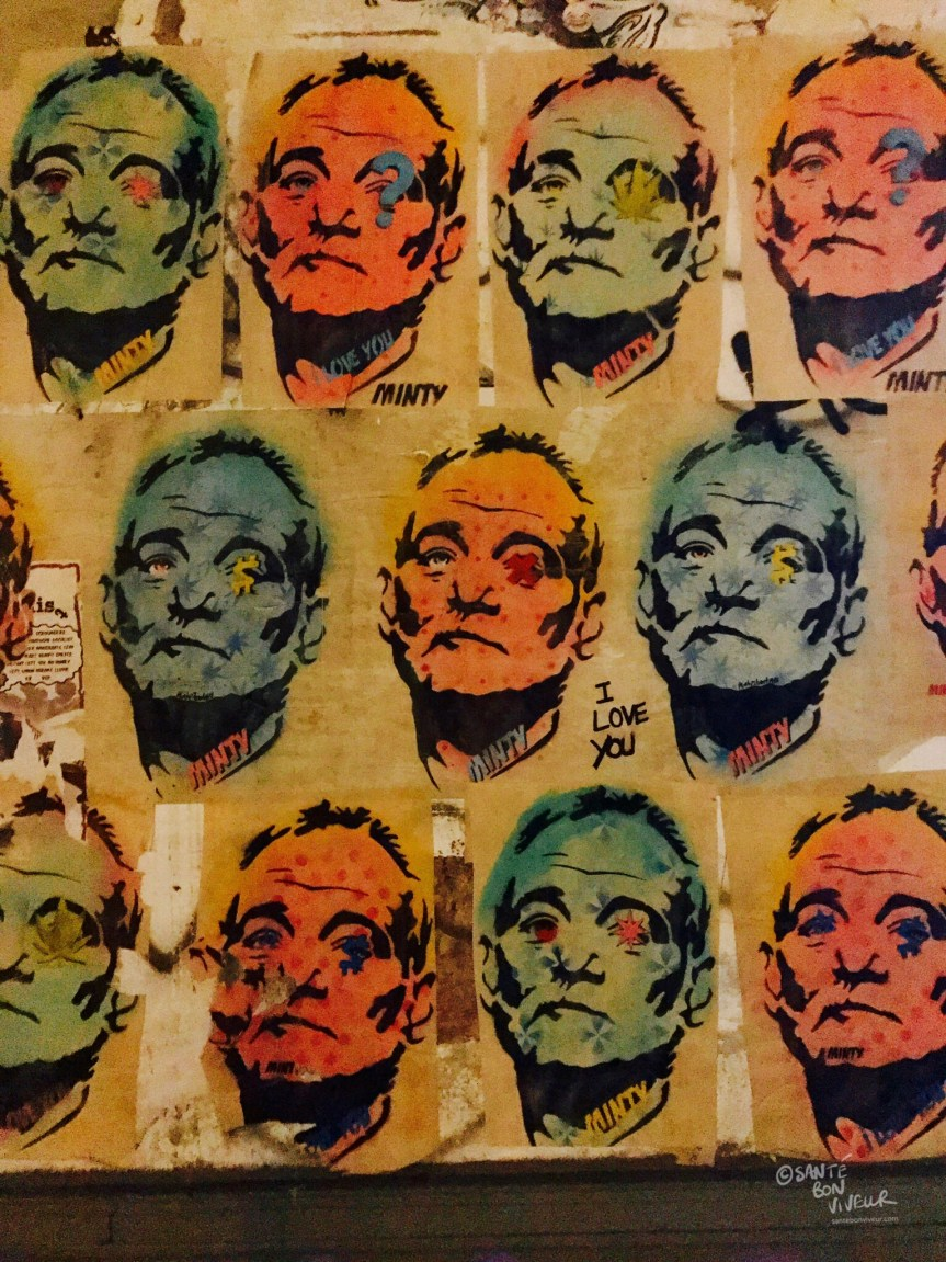 Brighton Street Art, Bill Murray by Minty, 2017