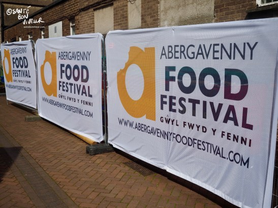 Abergavenny Food Festival Banners, Wales, UK, 2017